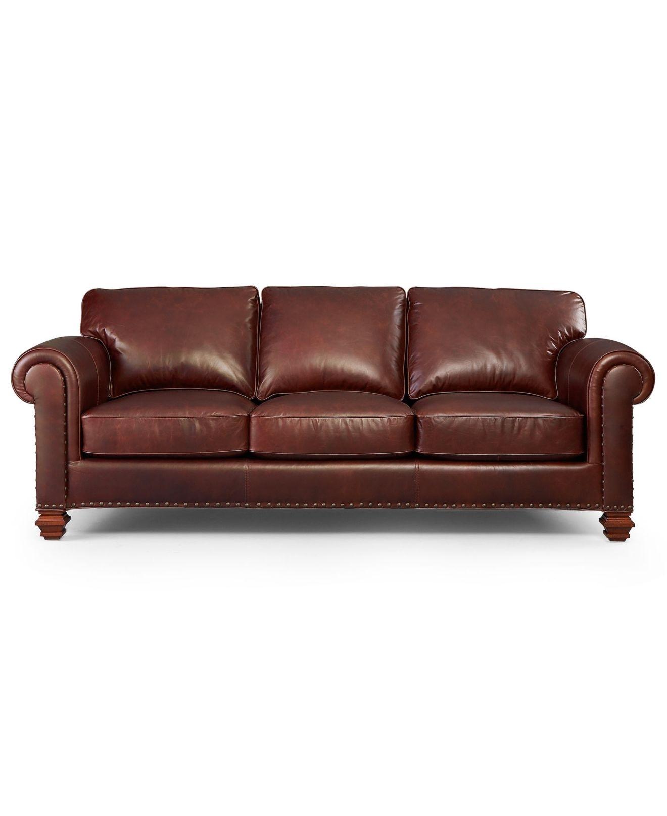 Lauren Ralph Lauren Leather Sofa, Stanmore – Living Room Furniture In Macys Leather Sofas (View 10 of 10)