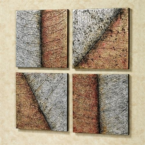 Lavish Leaves Canvas Wall Art Set Pertaining To Leaves Canvas Wall Art (Image 6 of 15)