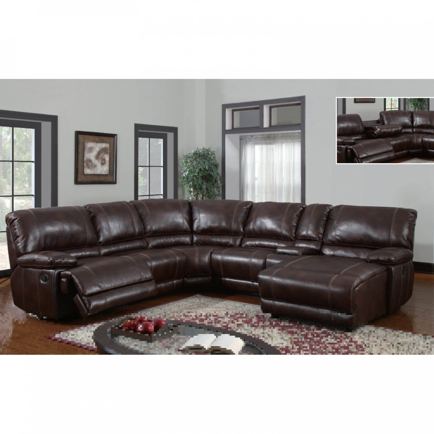 Leather Sectional Sofa With Power Recliner 11 With Leather | Home Inside Sectional Sofas With Power Recliners (View 6 of 10)