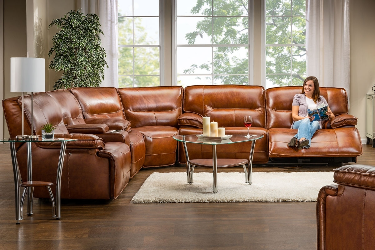 Leather Sectional Sofa With Power Recliner – Cleanupflorida Throughout Sectional Sofas With Power Recliners (Image 3 of 10)