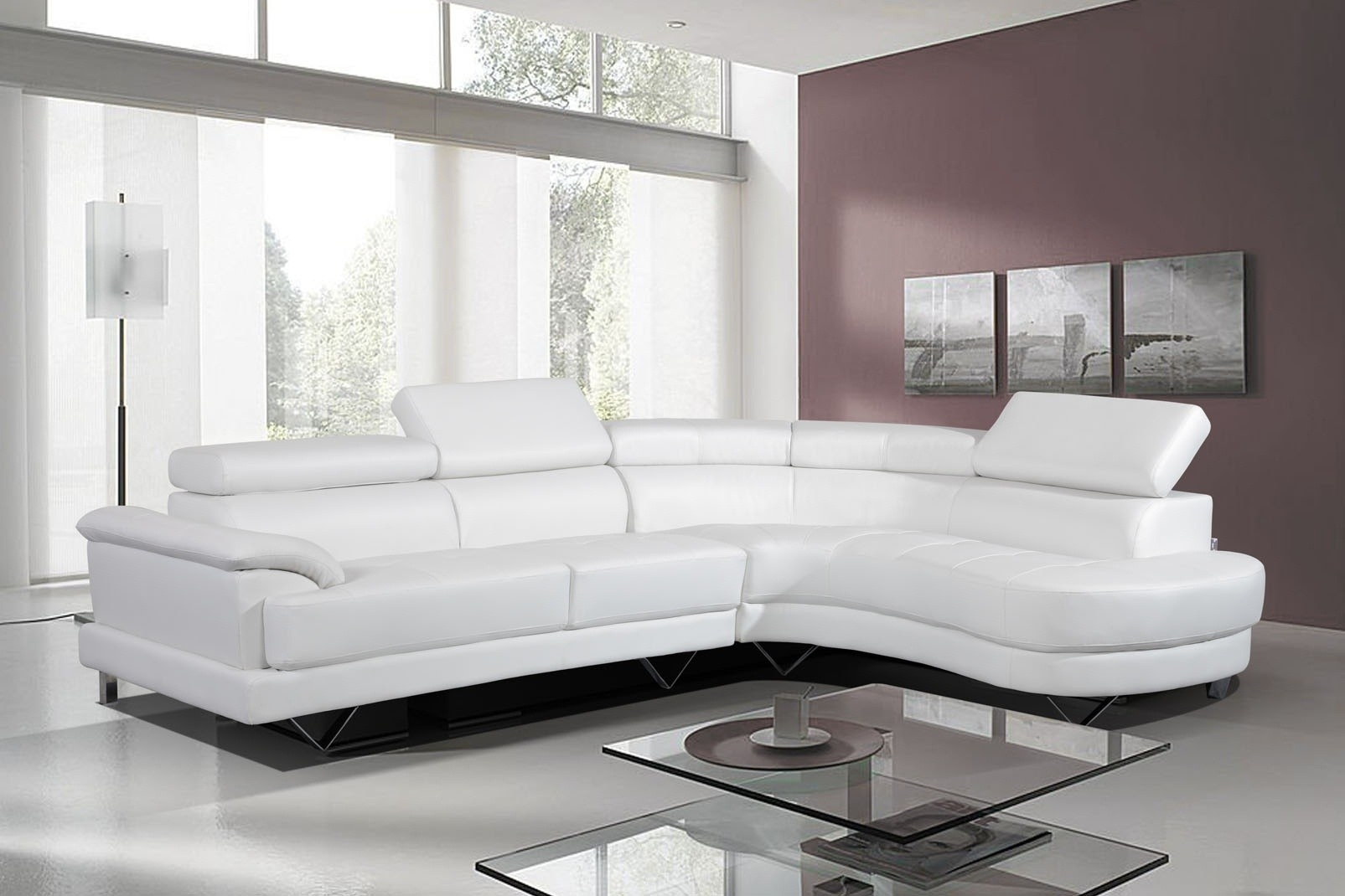Leather Sofa Corner – Home And Textiles Throughout White Leather Corner Sofas (Image 7 of 10)