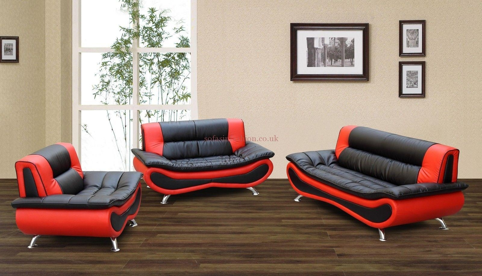 Leather Sofa Sale Black Red Napoli Faux Sofas – Dma Homes | #7369 With Regard To Red And Black Sofas (View 4 of 10)