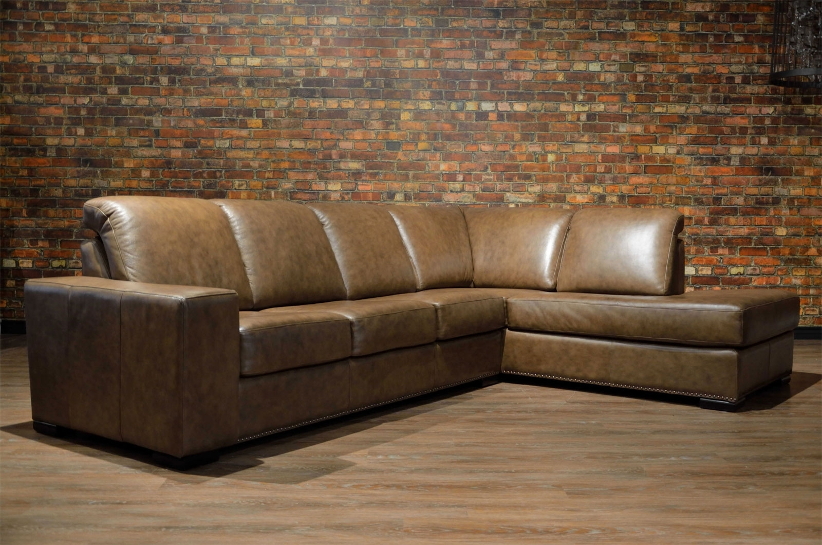 Leather Sofa & Sectional – Choose Color, Leather & Size | Boss Throughout Newmarket Ontario Sectional Sofas (Image 6 of 10)