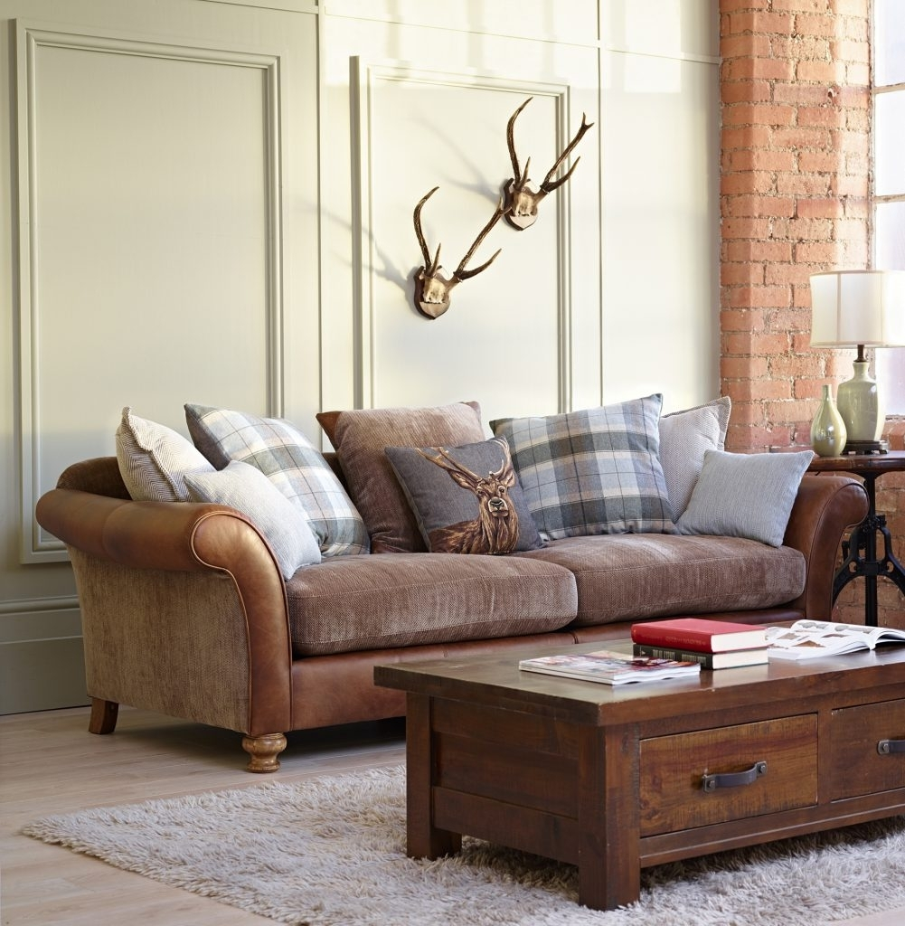 Leatherd Cloth Sofa Fabric Mix Uk Mixed Sofas Material Dfs Corner With Leather And Cloth Sofas (Image 8 of 10)