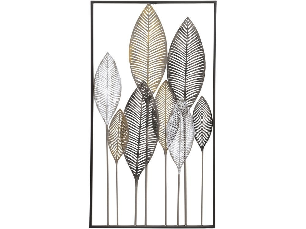Leaves Metal Wall Art | Exotic Leaf Metal Wall Decor Inside Abstract Leaves Wall Art (View 11 of 15)