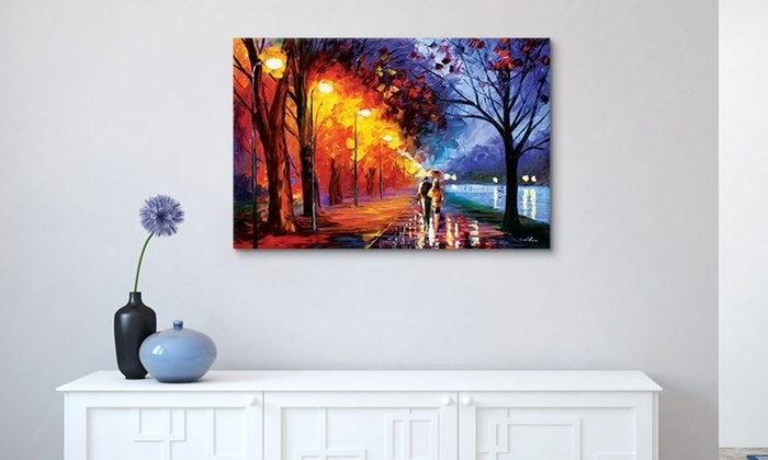 Leonid Afremov Gallery Wrapped Canvas Wall Art | Groupon Intended For Groupon Canvas Wall Art (Image 9 of 15)