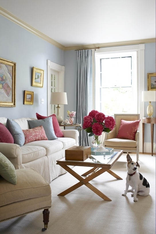 Light Blue Walls. Inspiration From Bhg (Image 11 of 15)