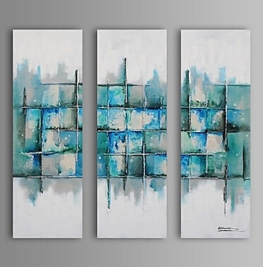Light Color Pieces Modern Abstract Oil Painting Wall Art With For Light Abstract Wall Art (Image 10 of 15)