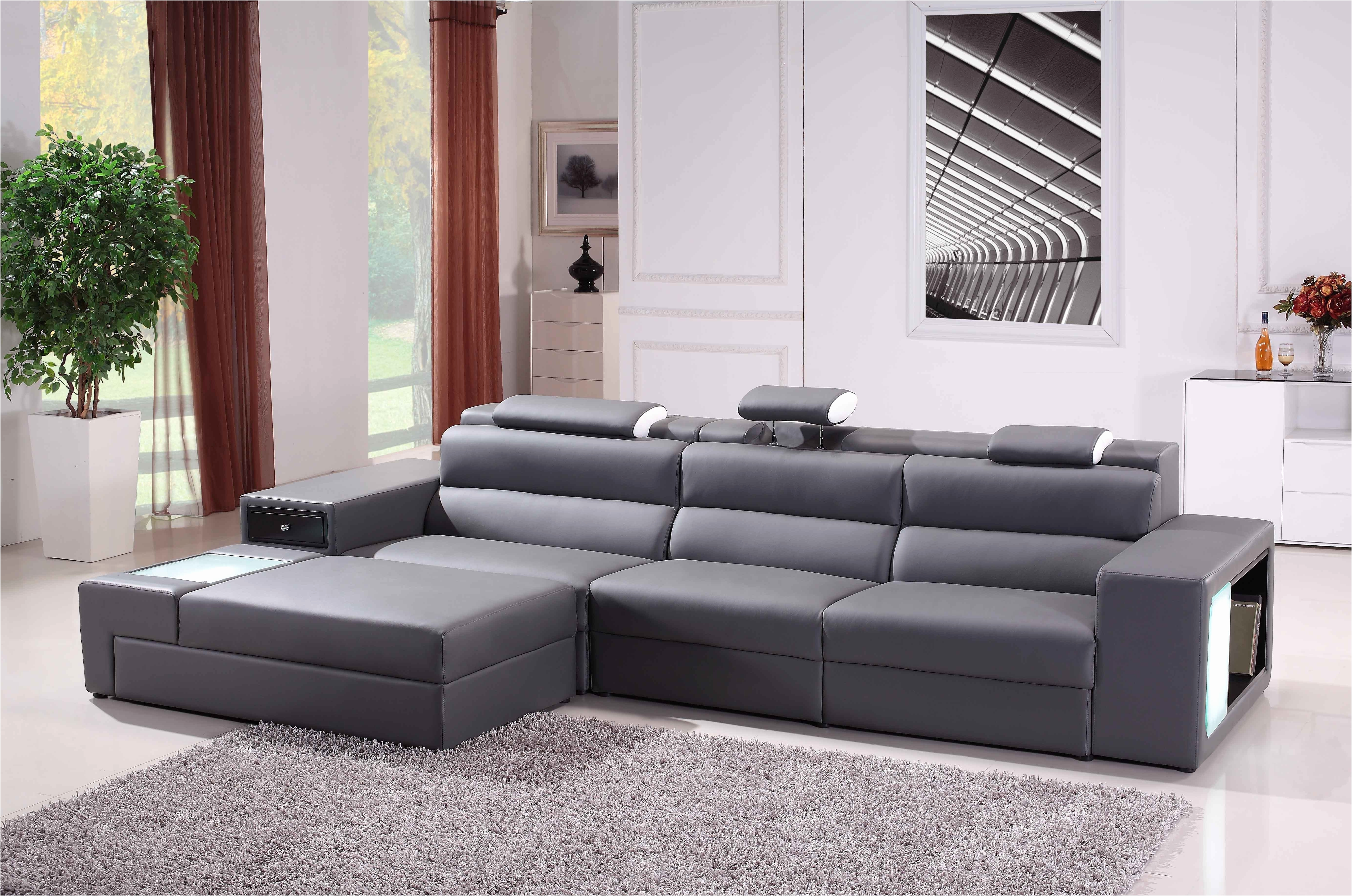 Light Gray Sectional Sofa Modern Grey Fabric Leather Mason Divani For Quebec Sectional Sofas (Image 9 of 10)