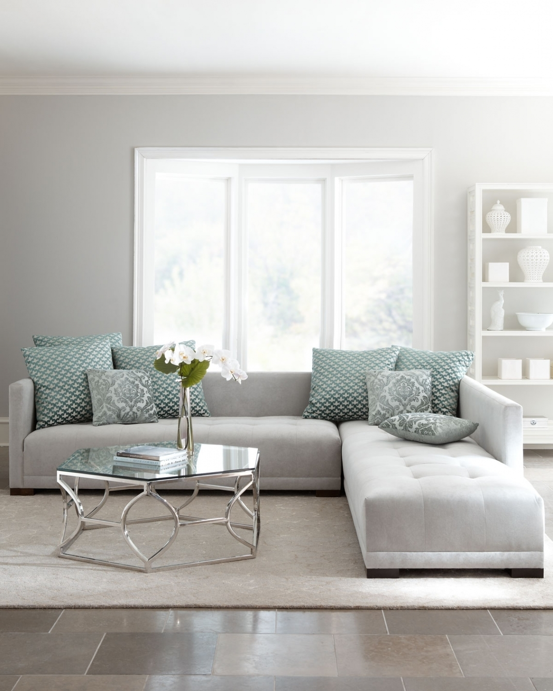 Perfect Featured Image Of Light Grey Sectional Sofas