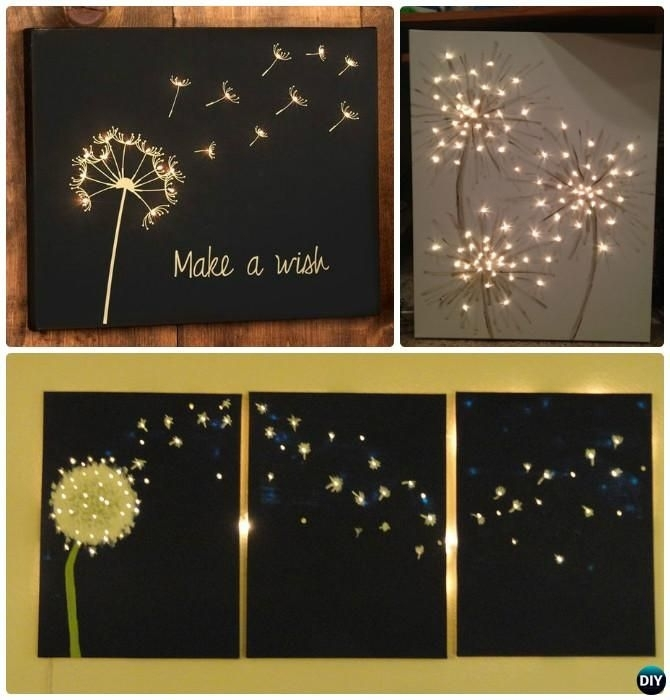 Light Up Wall Art 2018 Led Lights Wall Art Canvas Spray Painting Inside Lighted Canvas Wall Art (View 12 of 15)