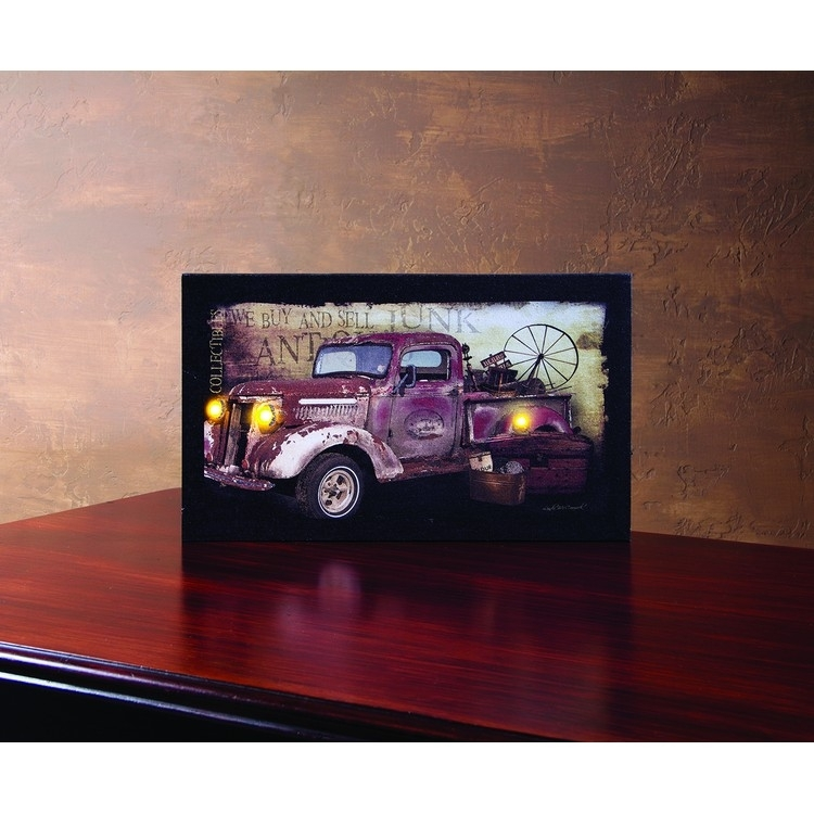 Lighted Canvas Pictures – Christmas Tree Hill For Lighted Canvas Wall Art (View 7 of 15)