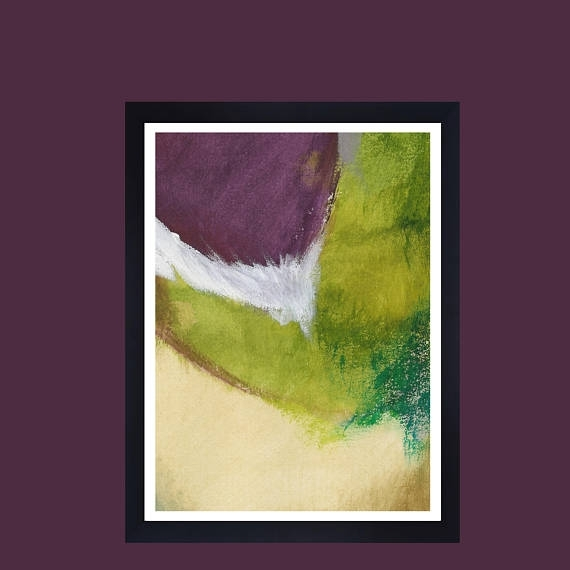 Lime Green Abstract Wall Art Lime Abstract Art Purple Modern Inside Lime Green Abstract Wall Art (Image 8 of 15)