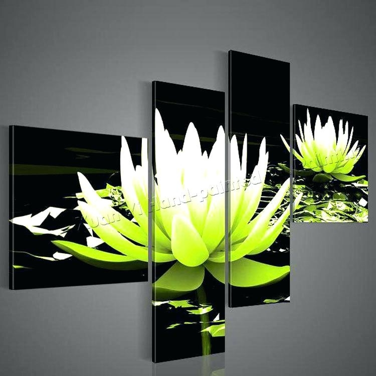 Lime Green Paintings Abstract Art Canvas Painting Lime Green Black In Lime Green Abstract Wall Art (Image 10 of 15)