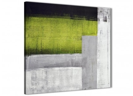 Lime Green Purple Abstract Painting Canvas Wall Art Print – Modern Within Lime Green Canvas Wall Art (View 12 of 15)