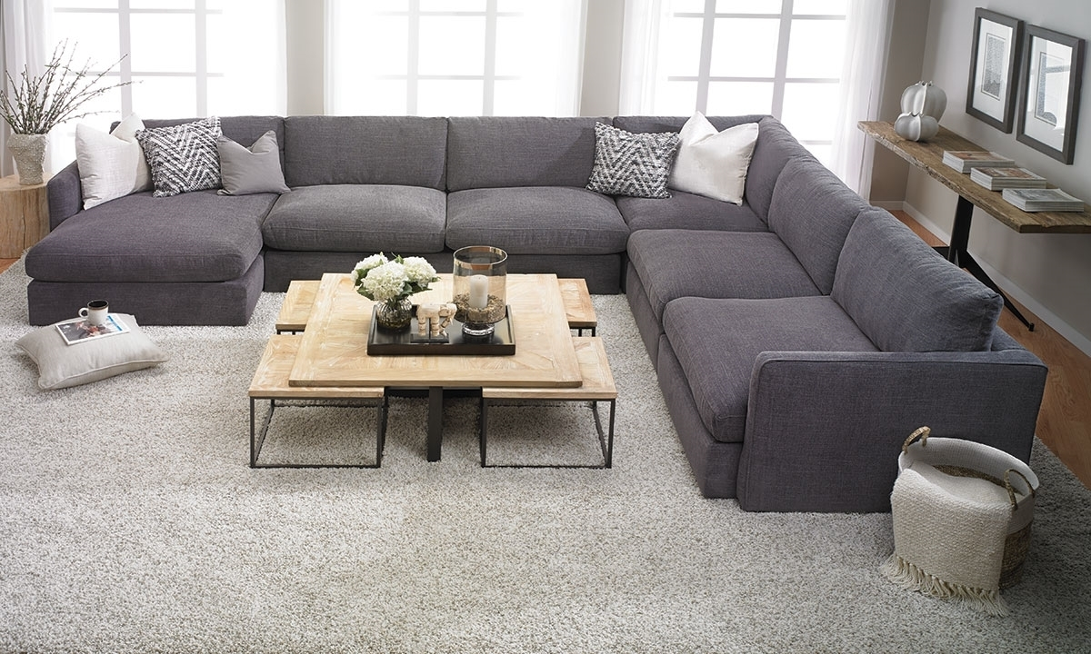 Lincoln Park Handmade Modular Sectional | Haynes Furniture Throughout Haynes Sectional Sofas (Image 6 of 10)
