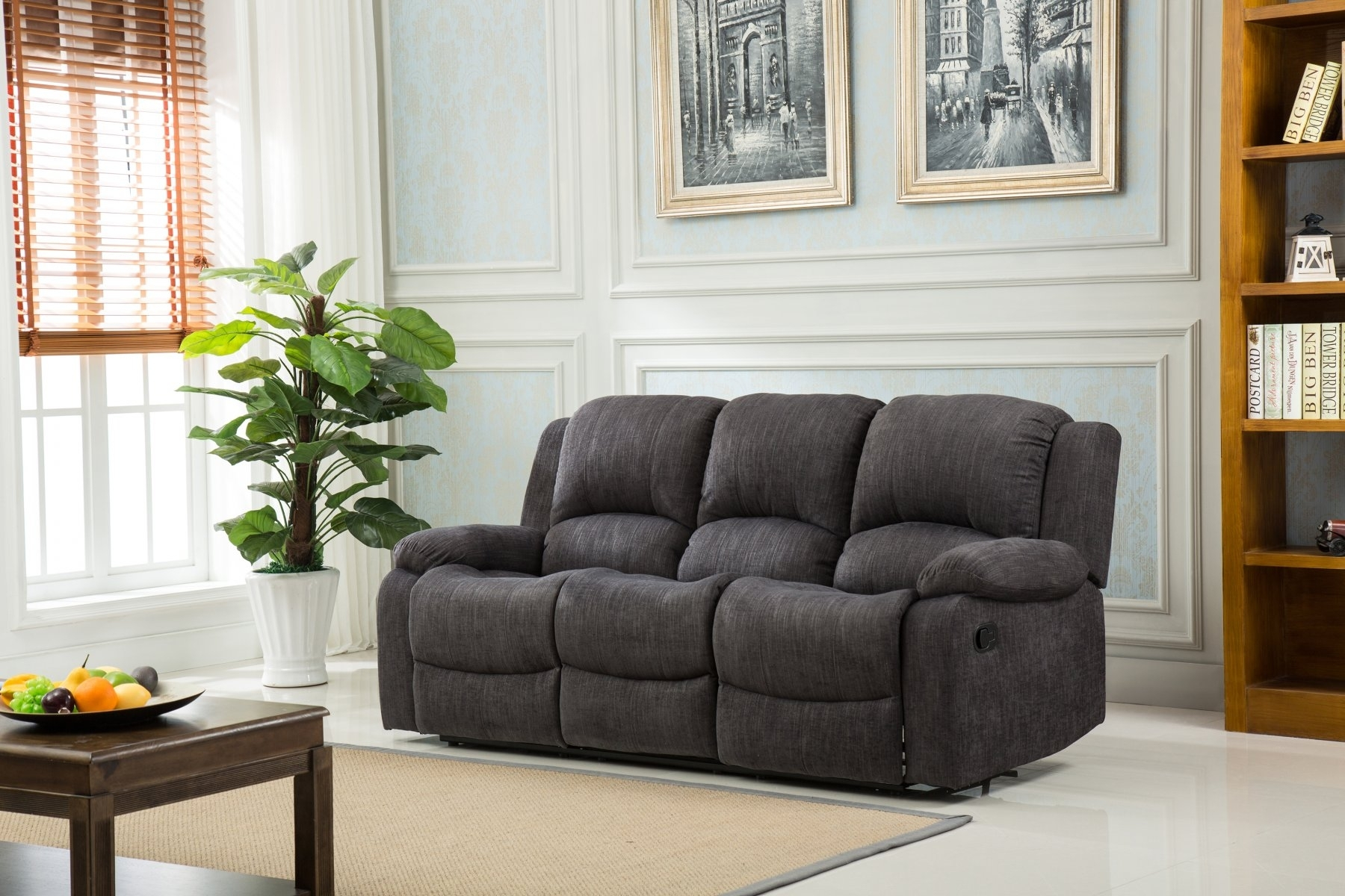 Linen Reclining Sofa – 100 Images – Living Room Living Room Inside Economax Sectional Sofas (View 9 of 10)