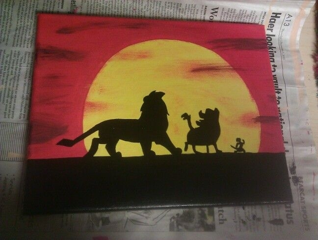 Lion King Canvas | Things I've Made | Pinterest | Lions, Canvases In Lion King Canvas Wall Art (View 4 of 15)