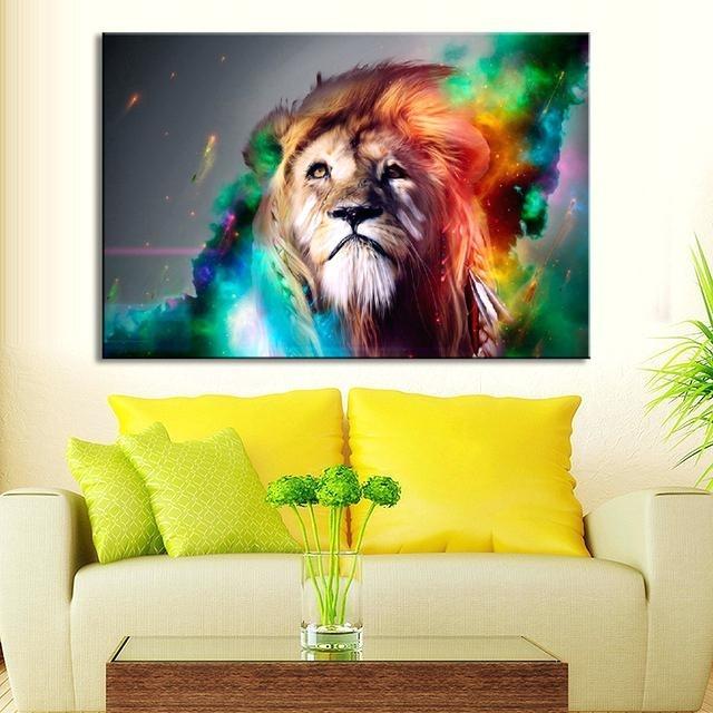 Wall Art Ideas: Lion King Canvas Wall Art (Explore #11 of 15 Photos)