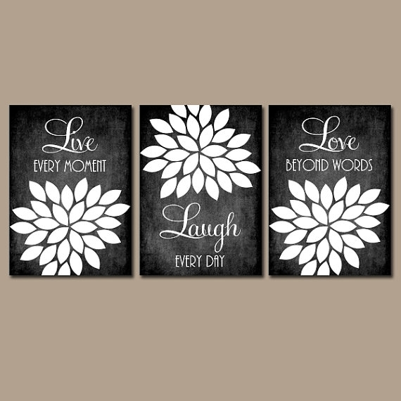 Live Laugh Love Wall Art Chalkboard Quote Kitchen Wall Art Pertaining To Live Laugh Love Canvas Wall Art (View 14 of 15)