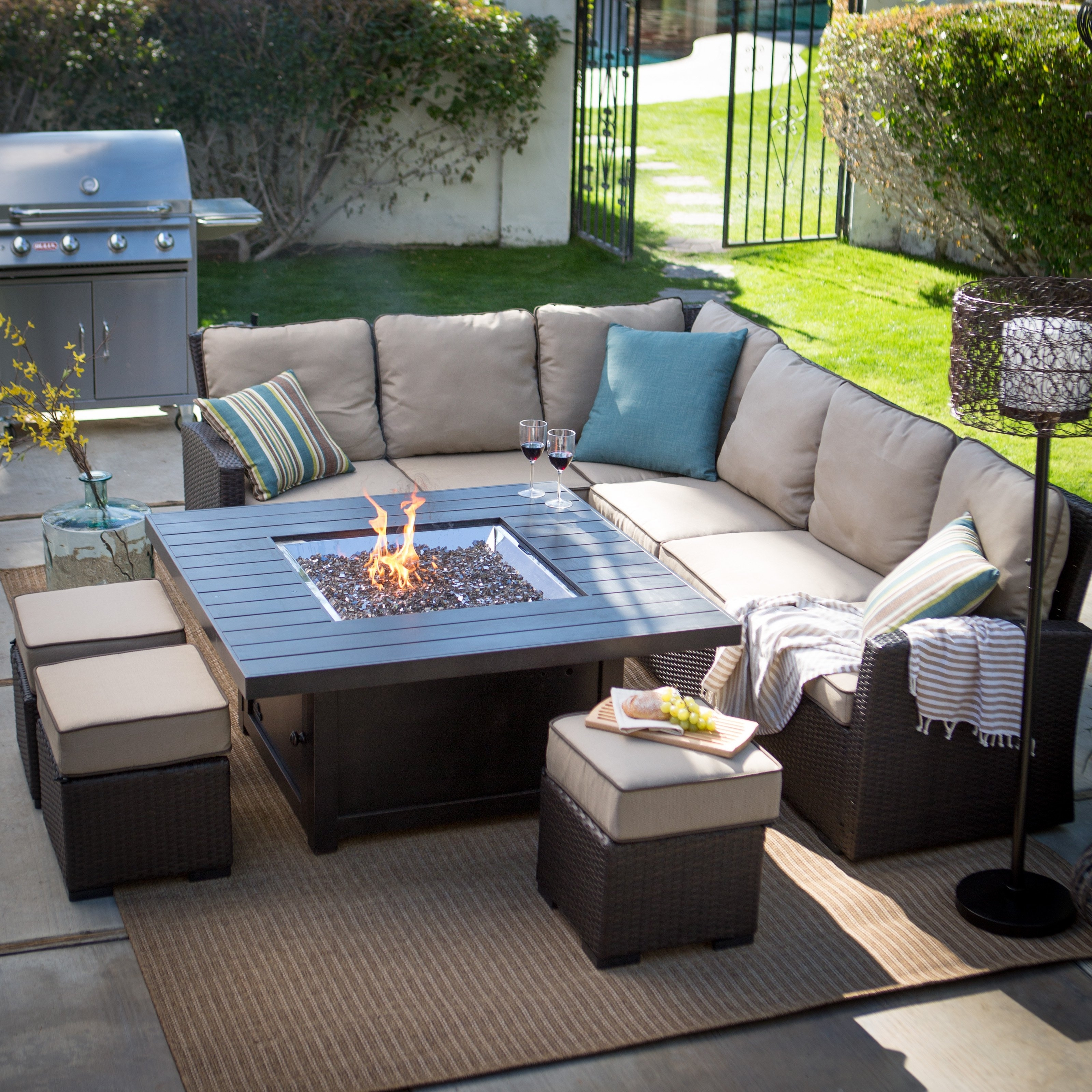 Living Home Outdoor Patio Sets – Outdoor Designs Pertaining To Patio Sofas (Image 7 of 10)