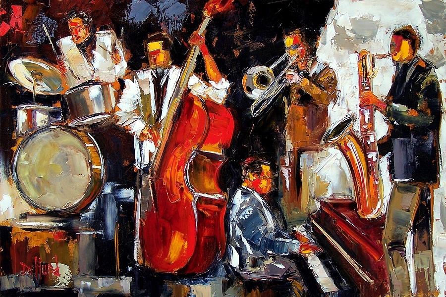 Living Jazz Paintingdebra Hurd For Abstract Jazz Band Wall Art (View 8 of 15)