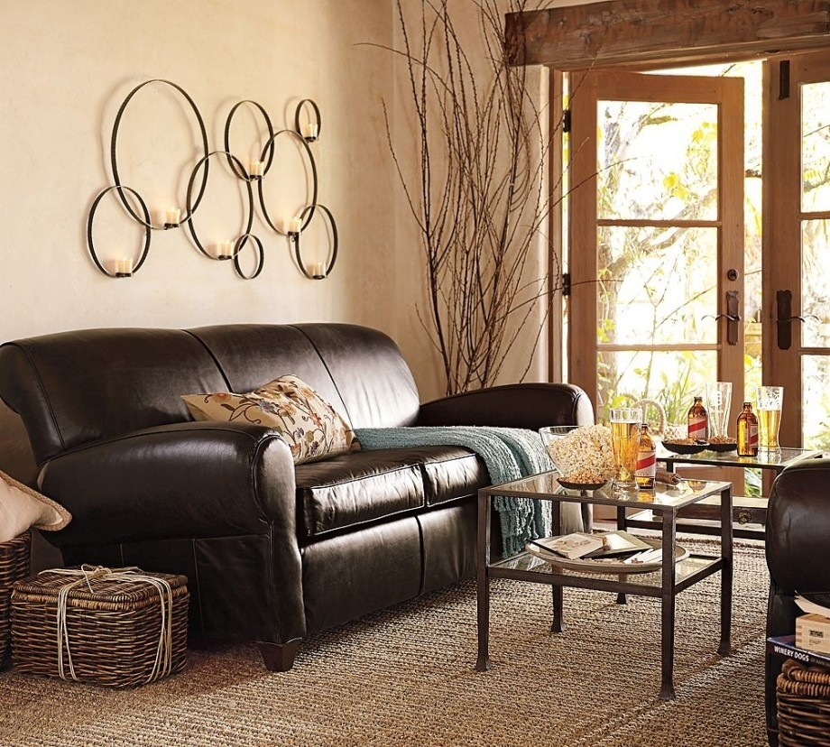 Living Room Color Schemes With Brown Couches |  Accessories And Intended For Brown Couch Wall Accents (Image 12 of 15)