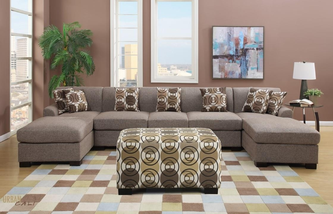 Living Room: Enchanting Grey U Shaped Sectional Sofa Motived Coffee Pertaining To U Shaped Sectional Sofas (View 4 of 10)