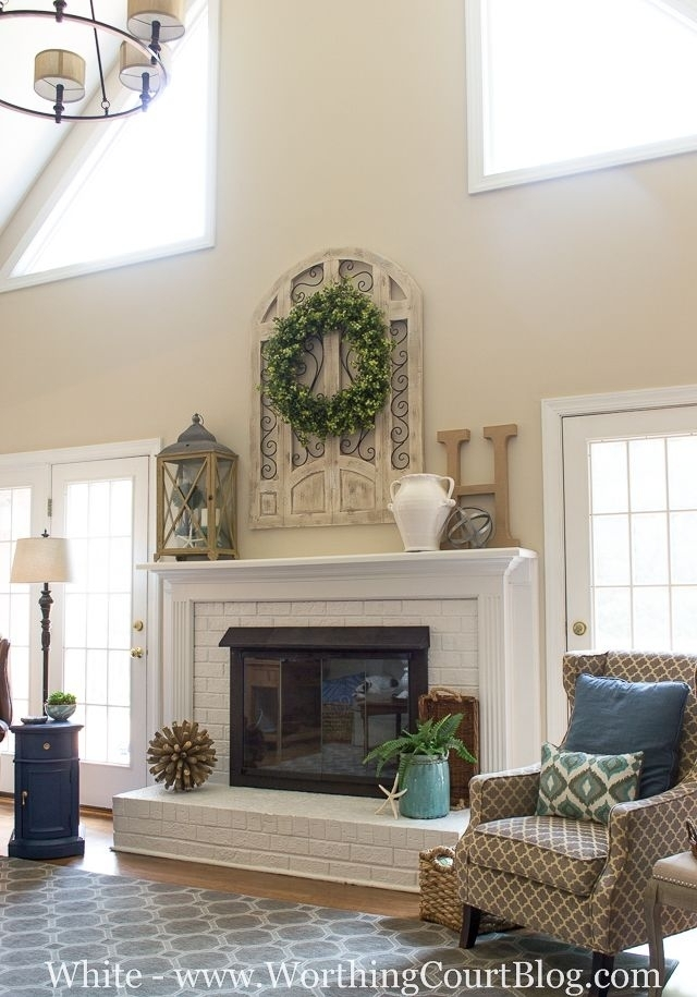 Living Room Fireplace Design Ideas Living Room With Tv Over Regarding Wall Accents Over Fireplace (Image 11 of 15)