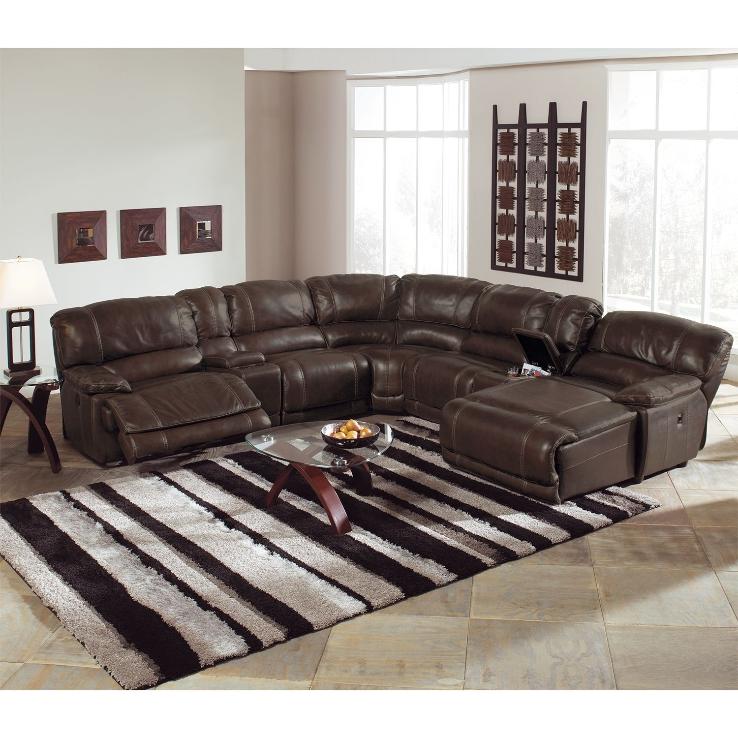 Living Room Furniture – Nikki 6 Piece Power Reclining Sectional With Within 6 Piece Leather Sectional Sofas (View 6 of 10)