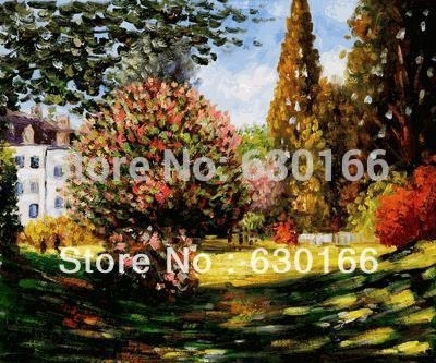 Living Room Home Decoration Painting, Il Parco Monceauclaude Within Monet Canvas Wall Art (Image 9 of 15)