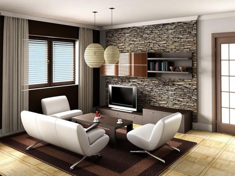Living Room : Living Room Accent Wall Ideas Living Room Wall Decor Throughout Wallpaper Living Room Wall Accents (Image 7 of 15)