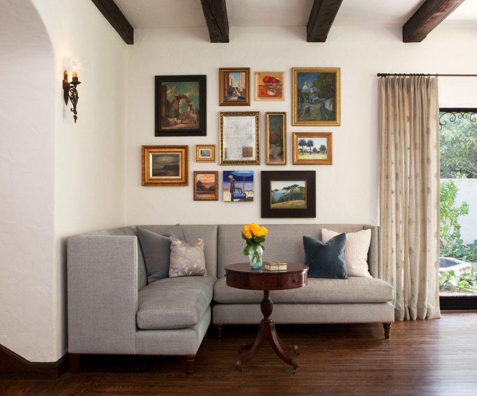 Living Room : Living Room Inspiring Image Of Decoration Using L Pertaining To Wall Accents For L Shaped Room (Image 11 of 15)