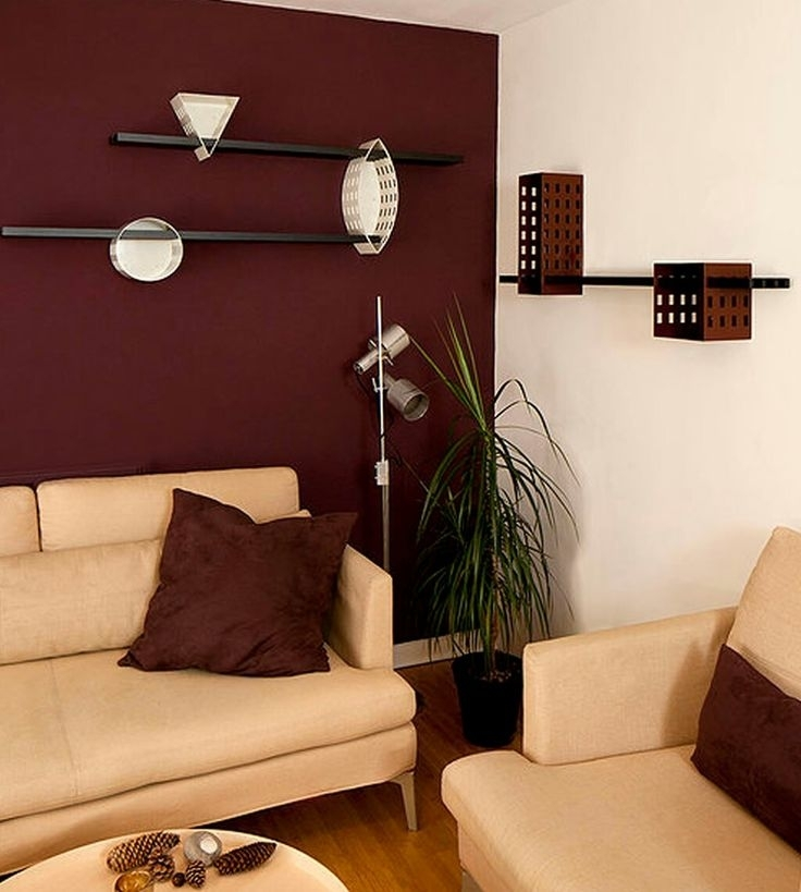 Living Room : Men Living Room Decor Ideas Modern Contemporary With Maroon Wall Accents (View 7 of 15)