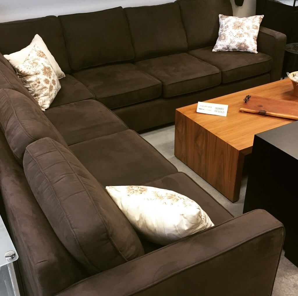 Living Room: Microsuede Sectional – 23 – Microsuede Sectional Inside Sectional Sofas At Barrie (View 8 of 10)