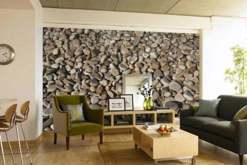 Living Room : Pebbles Accent Wall Decor Designs Living Room Styles Regarding Wall Accents For Small Living Room (Image 7 of 15)