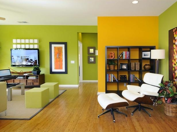 Living Room Remodels, Yellow Accent Wall Living Room Colors Red Pertaining To Wall Colors And Accents (Image 11 of 15)