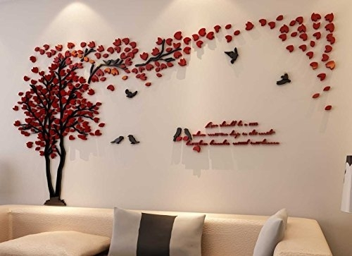 Living Room : Stunning Vinyl Wall Decal Decorating Ideas With Pertaining To Fabric Bird Wall Art (Image 10 of 15)