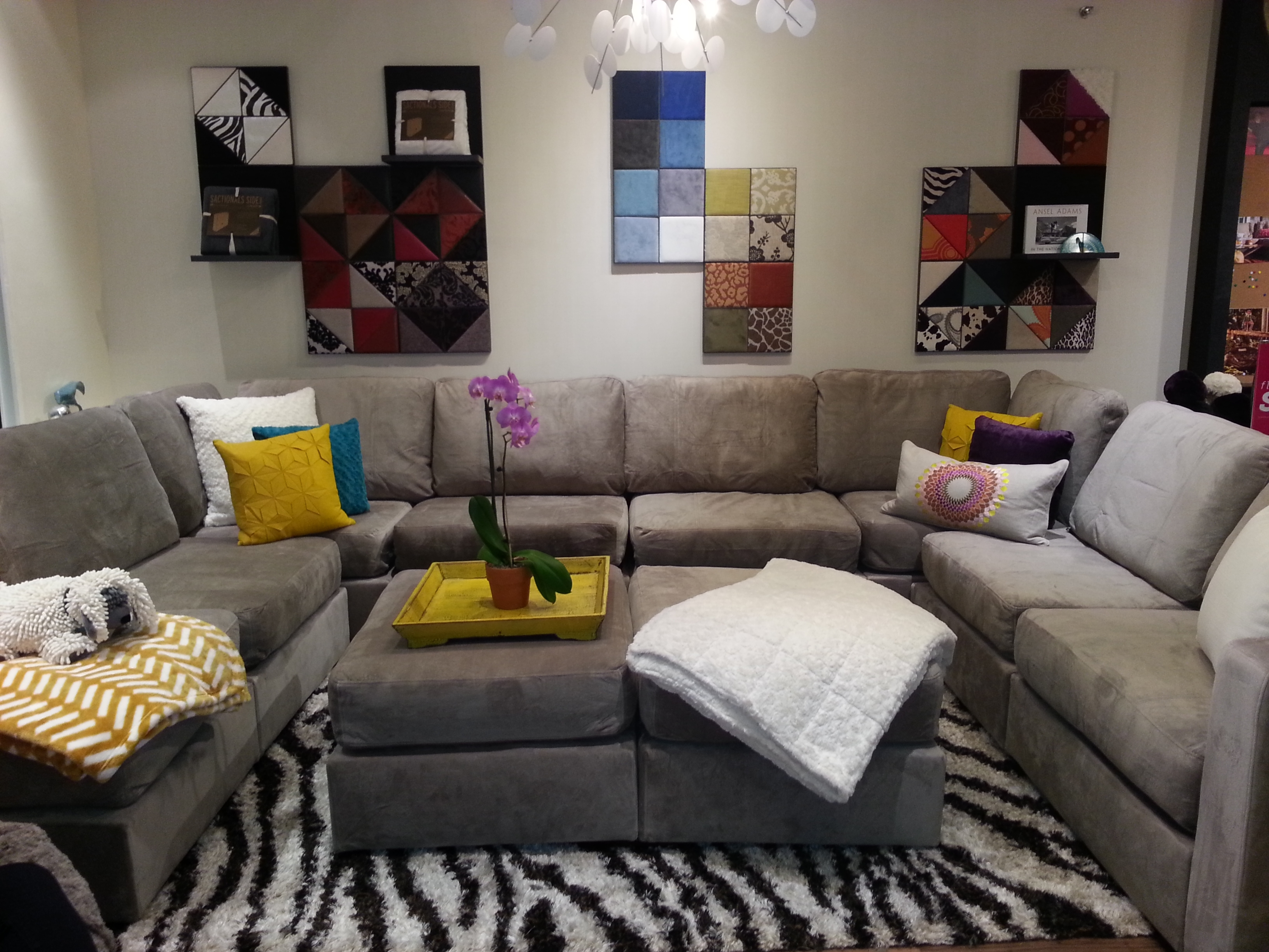 Livingroom : Sectional For Small Living Room Ideas Samples In Gray U Shaped Sectionals (View 10 of 10)