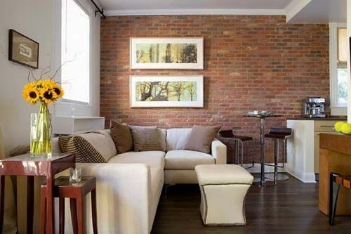Livingroom With Brick Wall To Kitchen – All Blog Custom | House Within Brick Wall Accents (View 15 of 15)