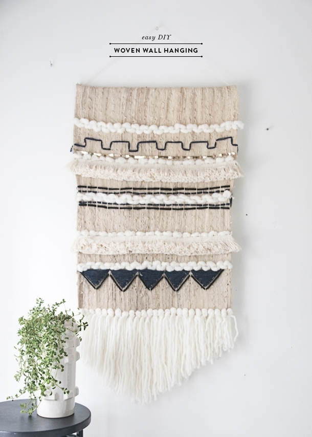 Lofty Ideas Weaving Wall Hanging With Easy Diy Woven Earnest Home Regarding Diy Textile Wall Art (Image 10 of 15)