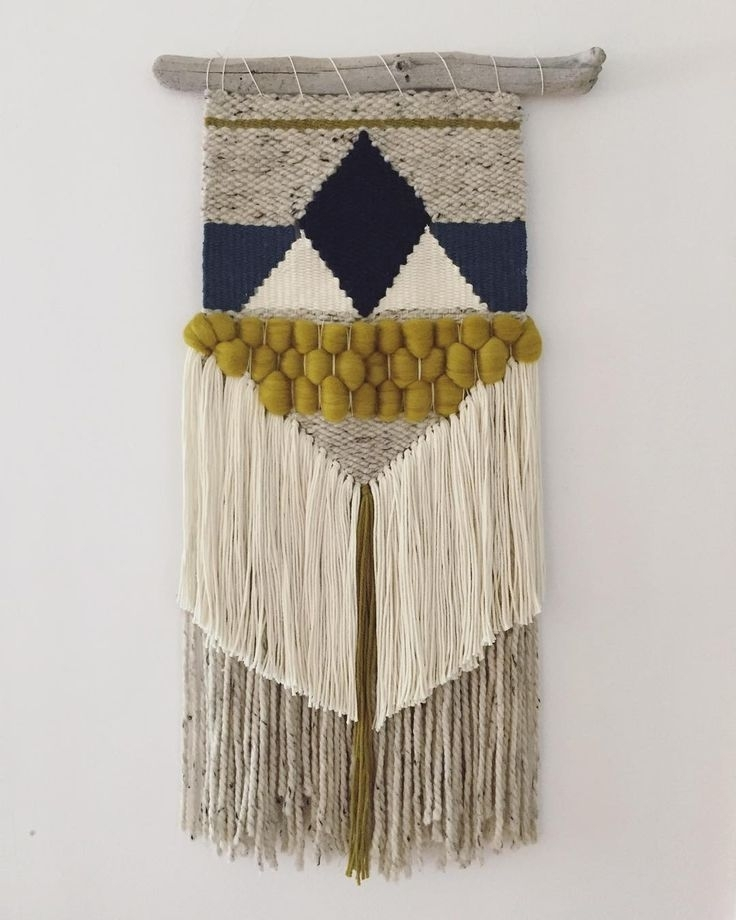 Lofty Ideas Weaving Wall Hanging With Easy Diy Woven Earnest Home Within Diy Textile Wall Art (Image 11 of 15)