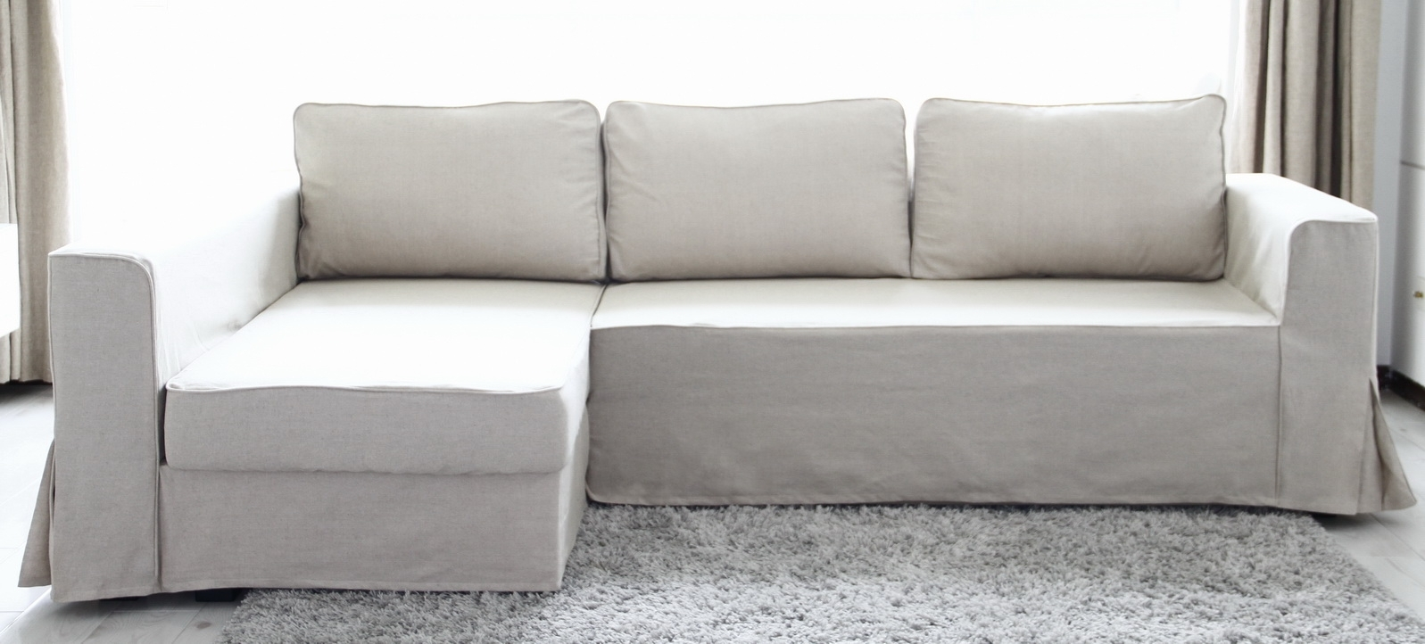 Loose Fit Linen Manstad Sofa Slipcovers Now Available Inside Manstad Sofas (Image 7 of 10)