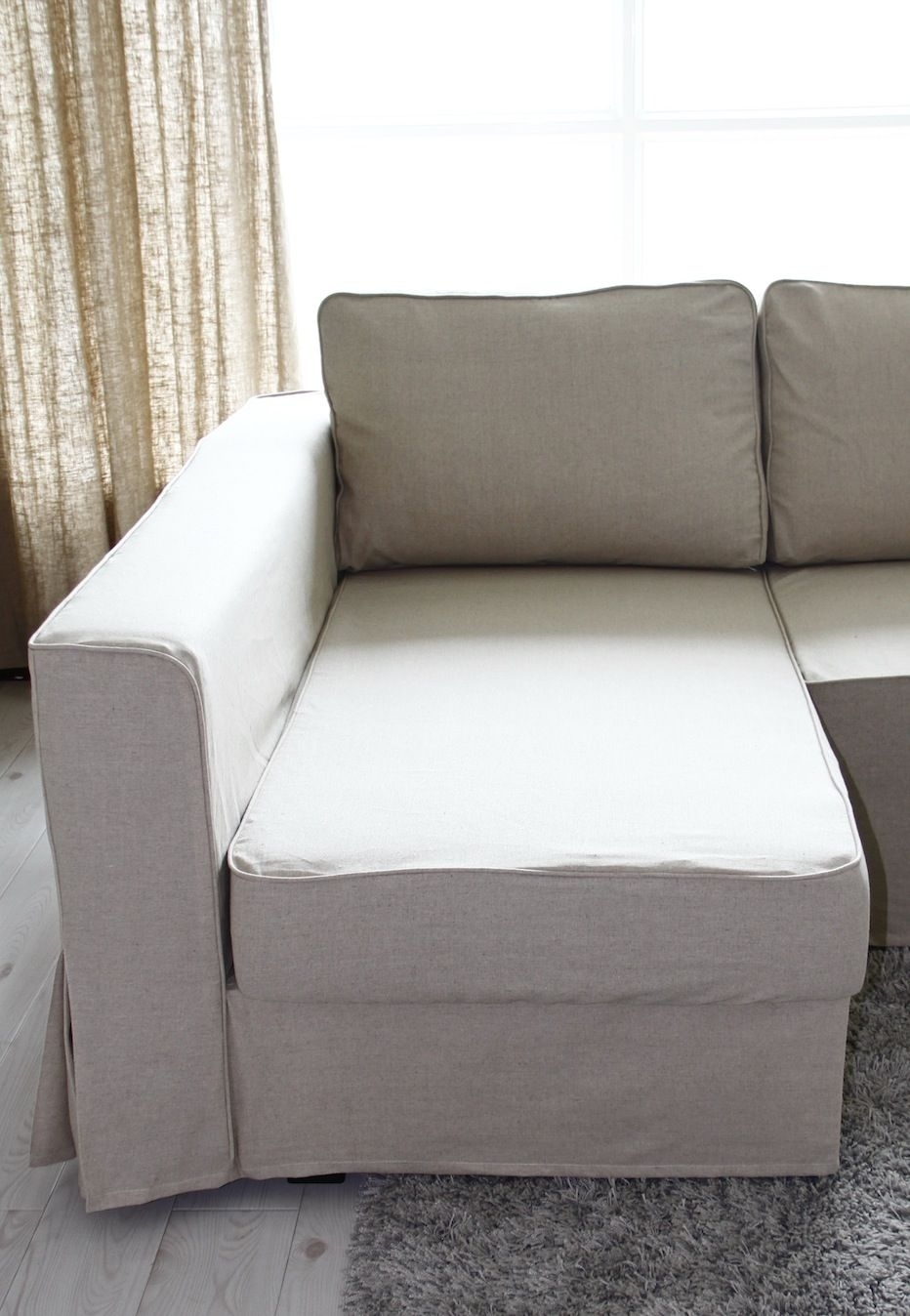 Loose Fit Linen Manstad Sofa Slipcovers Now Available | Sofa Within Manstad Sofas (View 6 of 10)