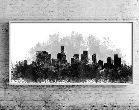 Los Angeles Canvas Wall Art Los Angeles Cityscape Canvas Inside Los Angeles Canvas Wall Art (Image 14 of 15)