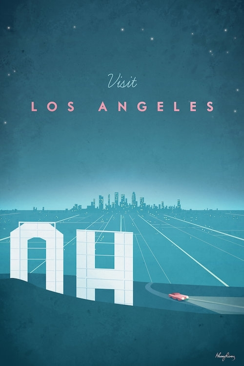Los Angeles Canvas Wall Arthenry Rivers | Icanvas Intended For Los Angeles Framed Art Prints (View 9 of 15)