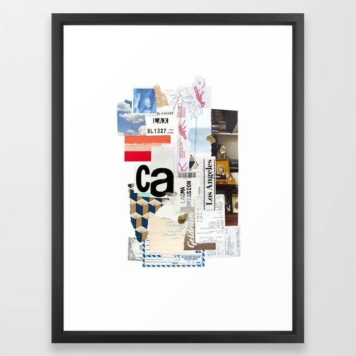 Los Angeles Framed Art Printemilyrickard | Society6 Pertaining To Los Angeles Framed Art Prints (View 4 of 15)