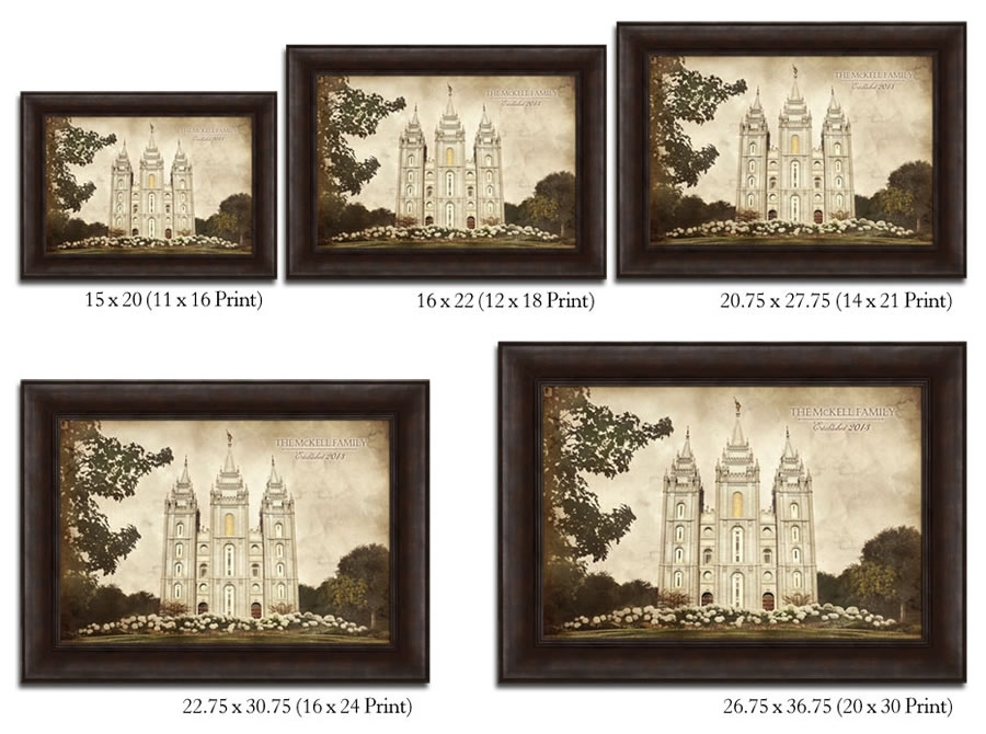 Los Angeles Temple – Vintage Framed In Temple | Ldsbookstore With Regard To Los Angeles Framed Art Prints (Image 14 of 15)