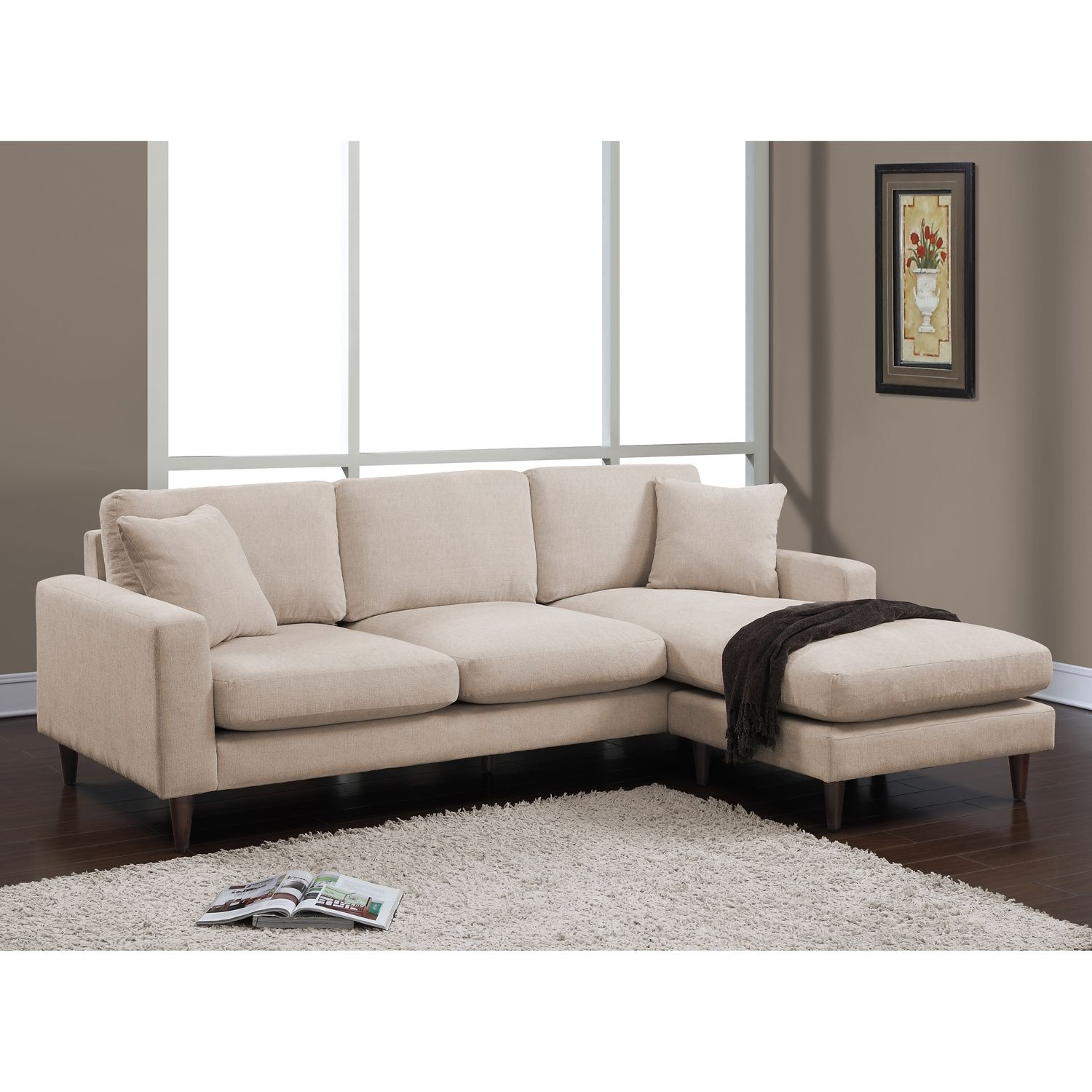 Lounge In Total Comfort With The Shaffer Two Piece Sectional Made Intended For Kingston Ontario Sectional Sofas (View 10 of 10)