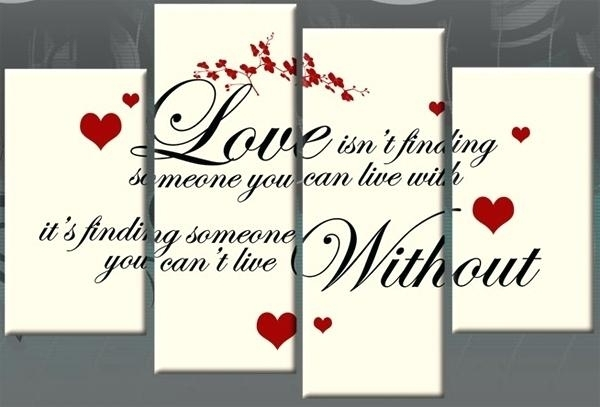 Love Canvas Wall Art Love Canvas Wall Art Finding Quote Red Black Inside Love Canvas Wall Art (View 6 of 15)